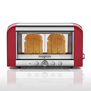 Magimix 2-Slot Vision Toaster 11528 - Red Finish