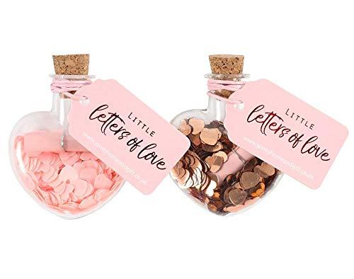 Klein Buchstaben Love Glasflasche - Knallbonbon Füller Geschenk -
