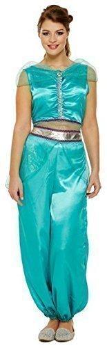 Damen Jasmine Arabische Prinzessin Bauchtänzerin Kostüm Kostüm Outfit ()