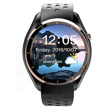 Meet Global Supermarket-Smartwatches@LEMFO Men's Woman Android SmartWatch IQI I3 support 3G WiFi GPS Heart Rate Monitor With 1.39 inch AMOLED Display 512MB RAM 4GB ROM Clock Phone , gold