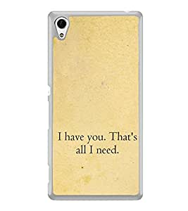 Love Quote 2D Hard Polycarbonate Designer Back Case Cover for Sony Xperia Z4