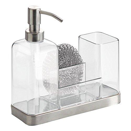 interdesign-66880eu-portasapone-e-spazzole-forma-2-plastica-trasparente-21x75x205-cm