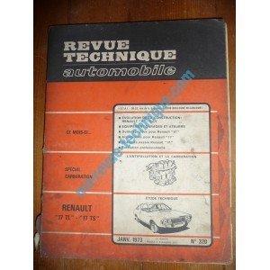RTA0320 - REVUE TECHNIQUE AUTOMOBILE RENAULT R17 TL - R17 TS par ETAI