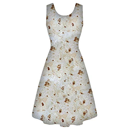 Malloom-Bekleidung Frauen-mexikanisches Pfannkuchen-Druckparty-formales Schwingkleid-Weinlese-Kleid
