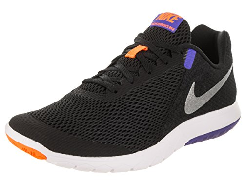 Nike Flex Experience RN 6 Men's Running Shoes, Black/Chrome-Persian Violet-Total Orange 10  available at amazon for Rs.4766
