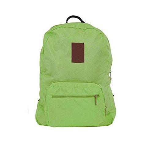 KYOKIM Schulrucksack Leichter Beiläufiger Rucksack Mit Wasserdichtem Nylonreise-Multifunktionsfaltbarer Rucksack 21.16 Unzen (Unze) G,Green-AllCode