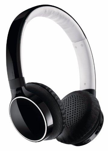 Philips SHB9100/00 Cuffia Stereo Bluetooth, Nero/Bianco