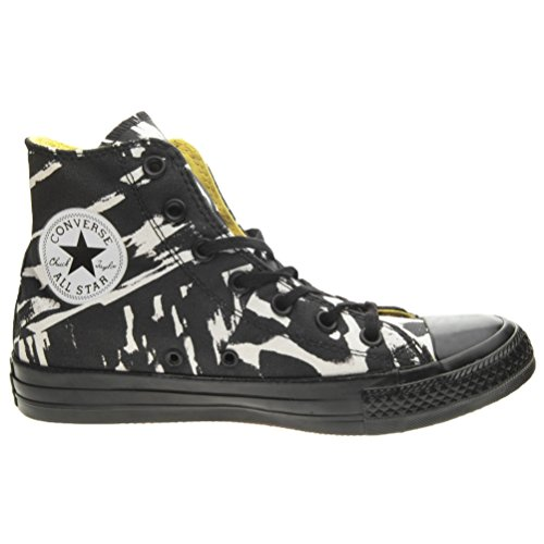 Converse All Star Hi Graphics, Chuck Taylor Hi Canvas Graphic mixte adulte Black/White Paint