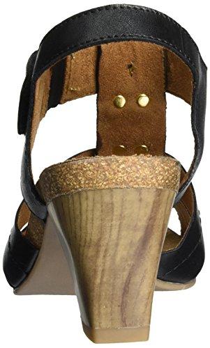 Caprice Ladies 28309 Sandali Aperti Con Tacco A Zeppa Nero (nappa Nera)