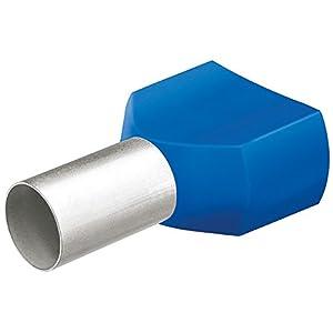KNIPEX 97 99 378 Twin-Aderendhülsen mit Kunststoffkragen