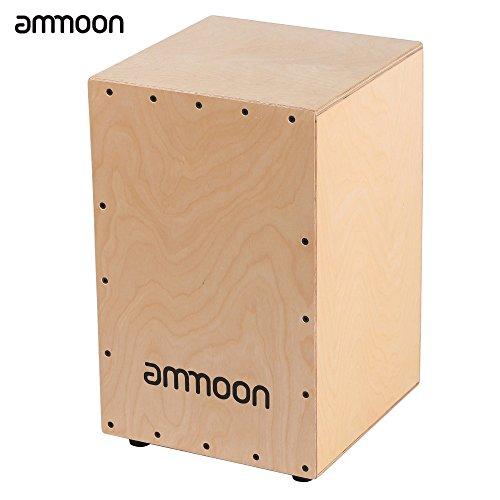 ammoon Drum zu Schachtel aus Holz Cajon Trommel Handtasche Instrument Schlagbohrmaschine mit den Gummifüße Saiten 30* 31* 48cm
