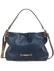 TAMARIS aKELA hobo sac à main femme, sac porté épaule, deux couleurs :  marron, brun ou bleu marine