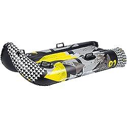 RESTART Luge gonflable tobogan - Taille unique - Noir gris et jaune