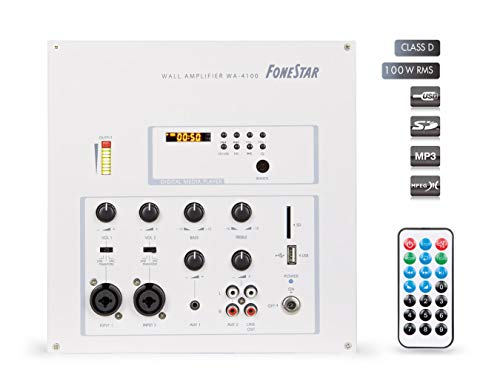 AMP WALL Fonestar WA-4100-2x50W RMS USB / SD / MP3 -