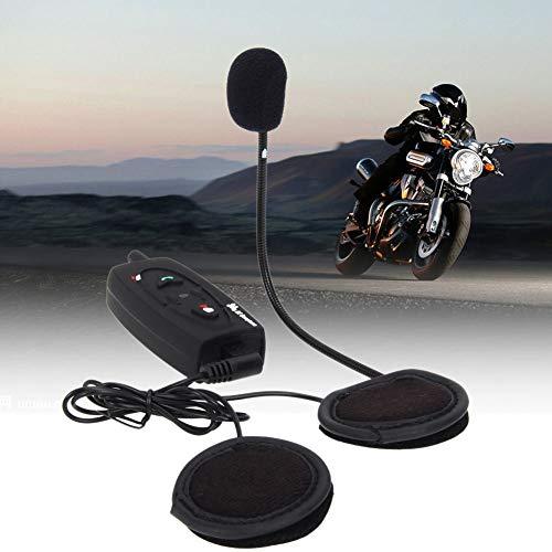 YSHtanj Motorrad Gegensprechanlage Motorrad Fahren Gear Kopfhörer V2 500 M Bluetooth Motorrad Helm Gegensprechanlage Headset Interphone für 2 Fahrer - Schwarz