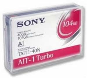 SONY Cartouche de données 8 mm,AIT-1 Turbo,186 m, 40/104 Go