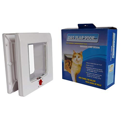 XINLUCK Universal Katzenklappe, manuelle 4-Wege-Verriegelung, einfache Installation, Flexible Befestigung Verriegelung, energieeffiziente Katzentür