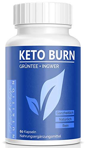 KETO BURN - Abnehmen - natürliche Inhaltsstoffe - Grüntee - Ingwer - Koffein - Cayennepfeffer - Hergestellt in Deutschland (1)