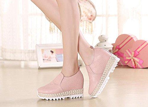 BaiLing Sandales d'été femme / Baskets à talons hauts Chaussures à la main à la main Pink