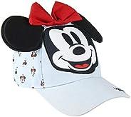 Cerdá Minnie Mouse Niña Ajustable-53 cm-4 a 8 Años Gorra de béisbol, Azul, 53 cm para Niñas