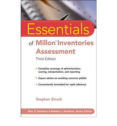{ [ ESSENTIALS OF MILLON INVENTORIES ASSESSMENT (ESSENTIALS OF PSYCHOLOGICAL ASSESSMENT) ] } By Strack, Stephen (Author) Feb-01-2008 [ Paperback ]