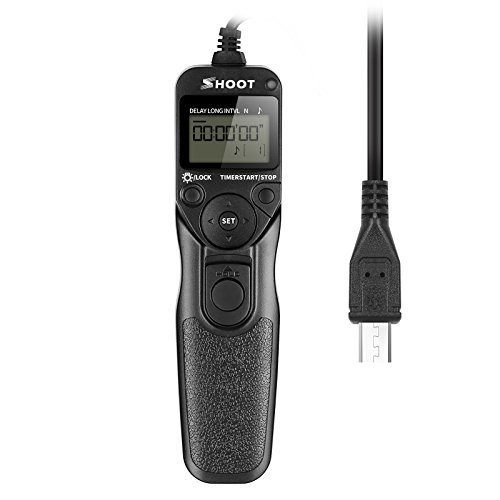 SHOOT RM-VPR1 Timer-Fernauslöser für Sony Alpha A7 A7R a7II A3000 A6000 SLT-A58 NEX-3NL DSC-HX300 DSC dsc-rx100 m3 RX100 M2 RX100II dsc-rx100iii Kameras