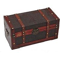 Preisvergleich für Generic * Stauraum Ägyptische Muster Treasure Box Holz Holz Storage Trunk runk TRE Ein Muster Tian Muster