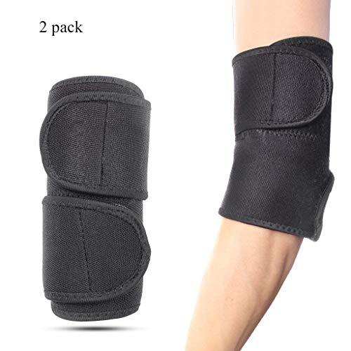 KELYDI Fitness-Ellenbogenbandage, verstellbar, 1 Paar, für Basketball, Tennis, Golfer, Sport, Verletzungen, Rehabilitation und Schmerzlinderung