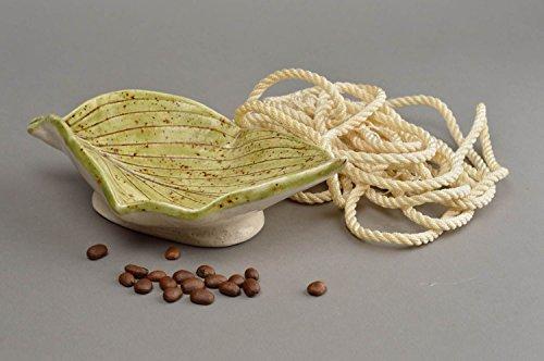 cendrier-en-ceramique-fait-main-peint-de-glacure-feuille-verte-accessoire-fumeur