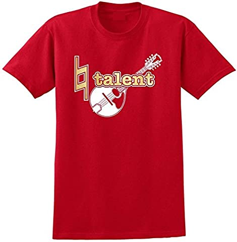 Mandolin Natural Talent - Red Rouge T Shirt Taille 87cm 36in Small MusicaliTee