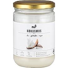 nu3 Crema de coco lista para untar | 450g de puré de coco en tarro de vidrio | 100% orgánico con cocos de Sri Lanka | Cultivo y agricultura ecológica y ...