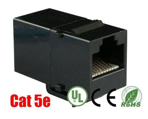 imbaprice Cat 5e Keystone Inline-Koppler, Schwarz (Coupler Cat5e Keystone Weiß)
