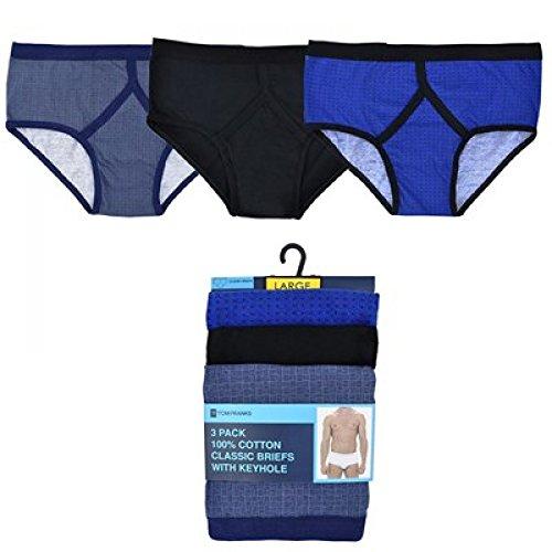 3 Pairs of Mens Tile Print Y Fronts Briefs Underwear by RJM
