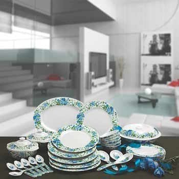 Superware Ektra Melamine Blue Rose Dinner Set 34 pcs