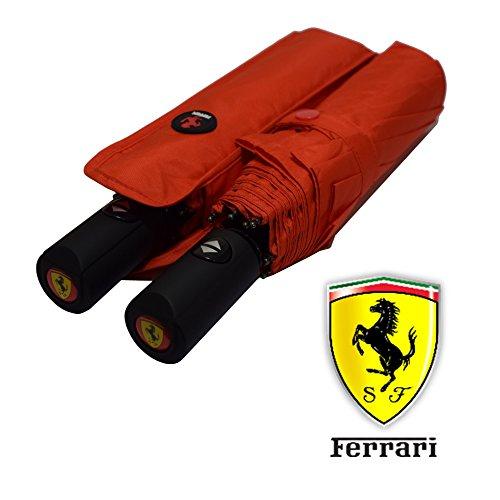 Qualità Premium automatico marca ombrello pieghevole | grande antivento in fibra di vetro per auto Skoda Audi BMW Ferrari Lamborghini rosso FERRARI