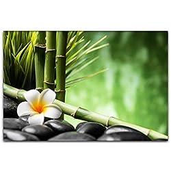 BILDERFABRIK – Wand-Bild Relax..Feng Shui in verschiedenen Größen wählbar...70 x 90 cm als Kunstdruck auf Leinwand und Holzkeilrahmen I Moderne Drucktechnik für ein detailreiches Erlebnis (70 x 90 cm)