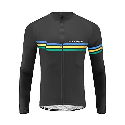 Uglyfrog Magliette Jersey Uomo Mountain Bike Manica Lunga Camicia Top Abbigliamento Ciclismo CXMX11