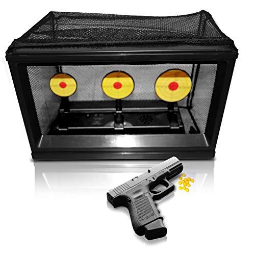 Oramics elektrische Zielscheibe für Softair - ca. 30 x 20 cm - automatischer Schießkasten für Federwaffen Airsoft, Batteriebetriebene Pro Target Scheibe für den perfekten Schießspaß