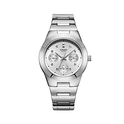 Casio (LTP-2083D-7AVDF|A529) Enticer Silver Dial Women's Analog Watch image