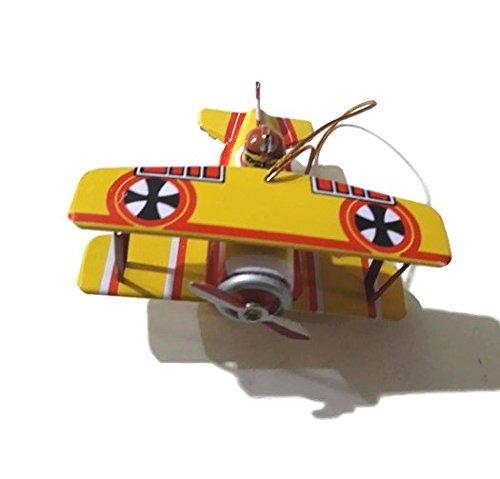 Juguete Vintage de Hojalata Avión Amarillo - Coleccionista