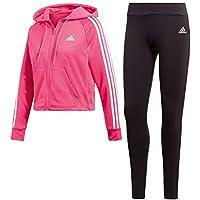 1120a294e1c0a6 adidas Women Tracksuit Hoodyand Tight, Tuta Donna, Real Magenta Nero, S 40-