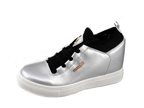 Rebelde , Damen Sneaker Silber