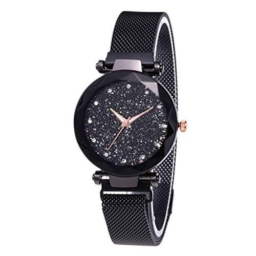 WOSOSYEYO Starry Sky Mujeres Relojes Magnético Malla