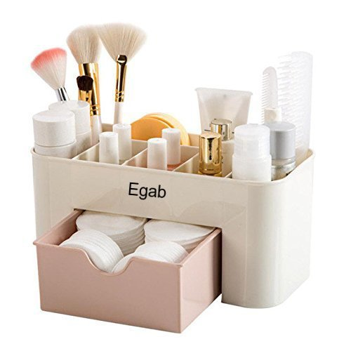 Shag Egab Cosmetic Organizer Makeup Drawers Display Box,Plastic Clear Cabinet Case Set