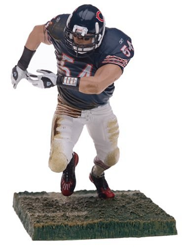 Brian Urlacher Jersey (McFarlane Toys NFL Sports Picks Series 9 Action Figure Brian Urlacher (Chicago Bears) Blue Jersey White Pants)