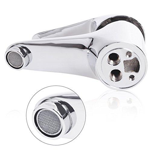 Wasserhahn Einhebel Armatur Waschtischarmatur Waschbeckenarmatur Waschtisch Mischbatterie für Bad Chrom - 7