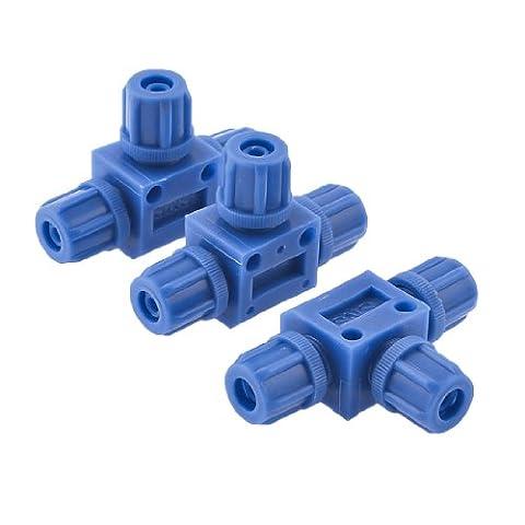 3pièces 6mm x 6mm T Suspension Pneumatique Tube Connect à