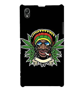 For Sony Xperia Z1 :: Sony Xperia Z1 L39h :: Sony Xperia Z1 C6902/L39h :: Sony Xperia Z1 C6903 :: Sony Xperia Z1 C6906 :: Sony Xperia Z1 C6943 Cartoon, Black, Cartoon and Animation, Printed Designer Back Case Cover By CHAPLOOS