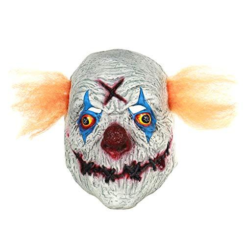 Cdet 1x Horror Maske Halloween Neuheit Latex Horror Spuk Kopf Masken Cosplay Karneval Maskerade Kostüm (Orange Clown)