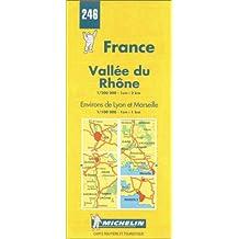 Carte routière : Vallée du Rhône, N° 246